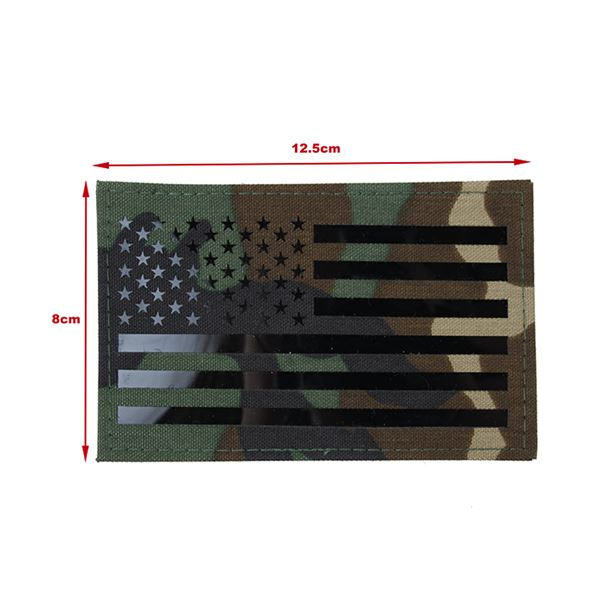 TMC Large US Flag Infrared Patch ( Woodland )