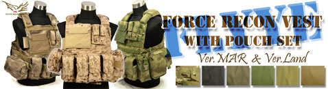 Flyye Force Recon Vest with Pouch Set各種